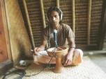 Ofick recording overdubs, Gili Meno, Indonesia.