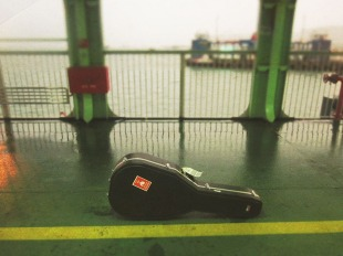 On the ferry from Penang to Butterworth, Malaysia.